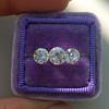2.79ctw Old European Cut Diamond 3-Stone Suite 1.11ct center (GIA H VS2), and .84ct (GIA H VS2) and .84ct (GIA G VS1) 15
