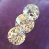 2.79ctw Old European Cut Diamond 3-Stone Suite 1.11ct center (GIA H VS2), and .84ct (GIA H VS2) and .84ct (GIA G VS1) 24
