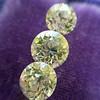 2.79ctw Old European Cut Diamond 3-Stone Suite 1.11ct center (GIA H VS2), and .84ct (GIA H VS2) and .84ct (GIA G VS1) 12