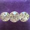 2.79ctw Old European Cut Diamond 3-Stone Suite 1.11ct center (GIA H VS2), and .84ct (GIA H VS2) and .84ct (GIA G VS1) 3