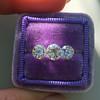2.79ctw Old European Cut Diamond 3-Stone Suite 1.11ct center (GIA H VS2), and .84ct (GIA H VS2) and .84ct (GIA G VS1) 14