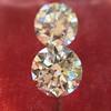 2.88ctw Old European Cut Diamond Pair, GIA I/VVS2 &  GIA H VS1 8