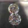 2.88ctw Old European Cut Diamond Pair, GIA I/VVS2 &  GIA H VS1 3