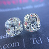 3.05tcw Antique Cushion Cut Diamond Pair, GIA J, VS2/SI1 11