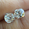 3.05tcw Antique Cushion Cut Diamond Pair, GIA J, VS2/SI1 4