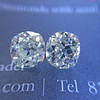 3.05tcw Antique Cushion Cut Diamond Pair, GIA J, VS2/SI1 1