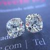 3.05 tcw Antique Cushion Diamond Pair GIA J VS2/SI1 ACC