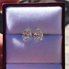 3.11ctw Antique Pear Shaped Diamond Pair GIA L M VS1 VS2 1