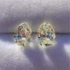 3.11ctw Antique Pear Shaped Diamond Pair GIA L M VS1 VS2 7