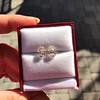 3.11ctw Antique Pear Shaped Diamond Pair GIA L M VS1 VS2 5