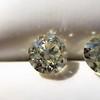 3.40ctw Old European Cut Diamond Pair 1