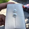 4.26ctw Old European Cut Diamond Pair, GIA K VS1. GIA K SI1 5