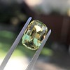 4.06ct Yellow-Chartreuse Sapphire with GIA, No-Heat 18
