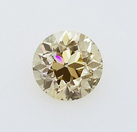 9mm Yellow/Champagne Old European Cut Moissanite
