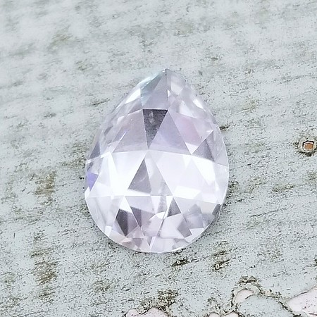 Loose 10 x 7.5mm Pear Rose Cut Moissanite