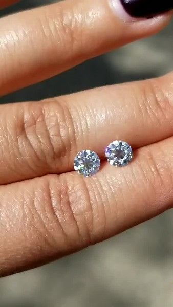Loose 6mm Old European Cut Moissanite Matched Pair
