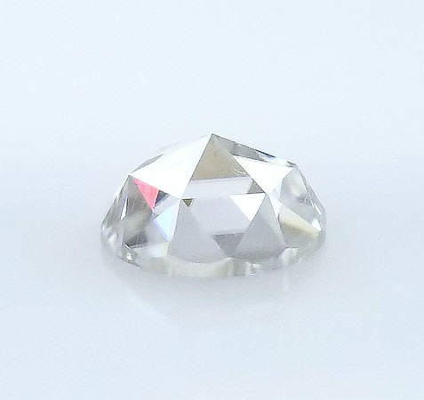 Loose 9mm Rose Cut Moissanite - Colorless
