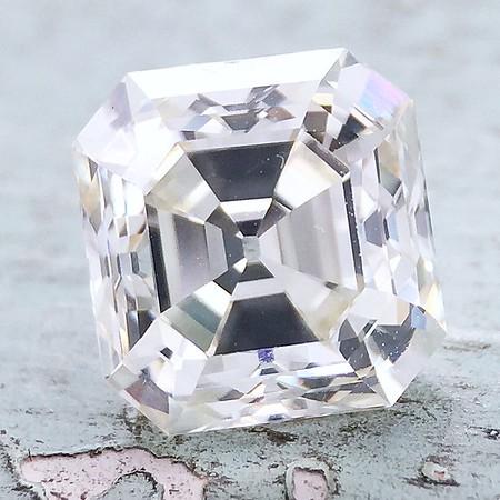 2.86ct Vintage Asscher Cut Diamond - AGS L, VS1