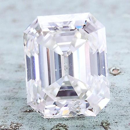 3.03ct Vintage Emerald Cut Diamond - GIA J, VS2
