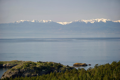 The Olympic Mountains, SW across the Salish Sea from Chadwick Hill