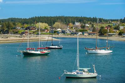 Sailboats in Fisherman Bay