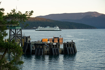 The ferry Hyak passing the Lopez Island terminal on a morning run