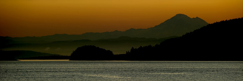 "First Light 12x36 Panorama *Available as a 3-panel ""Triptych"" on metal. The copper sky is unbelievable on metal or metallic paper."