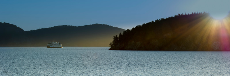 The Ferry Samish heading towards Thatcher Pass