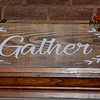 $25.00  GATHER WOODEN SIGN