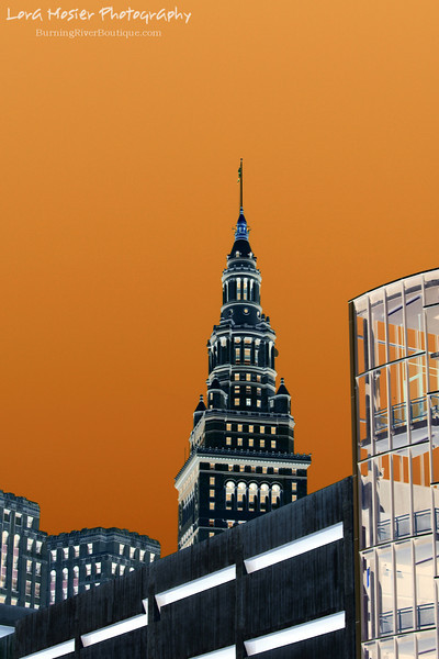 "Looking At This From Every Angle by Lora Mosier<br /> <br /> A different twist on Cleveland.  This is part of my ""Positively Negative"" series.<br /> <br />  <a href=""http://www.burningriverboutique.com"">http://www.burningriverboutique.com</a>"