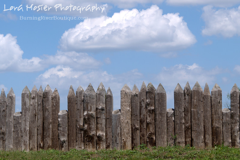 What's Your Point? By Lora Mosier<br /> <br /> A portion of Fort Meigs in Perrysburg, OH.<br /> <br /> Could this be the predecessor of the barbed wire fence?