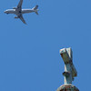 Blessed Flight by Lora Mosier<br /> <br /> Looking up from Gordon Square in Cleveland, Ohio.