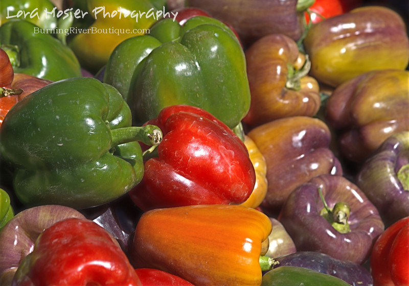Sergeant Pepper by Lora Mosier<br /> <br /> These beautiful peppers finally made it to our fall festival, but more importantly so did Sandi and her daughter after some truck trouble.  <br /> <br /> The purple peppers (which I never saw or heard of before this) taste similar to a red bell pepper.