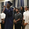 "Richard Payerchin - The Morning Journal <br> The Lorain High Choir, with soloists, seniors Emmanuel Brown, Shyann Castro and Annastasia Williams, sang the senior song: ""I'll Make the Difference,"" by Moses Hogan, as part of the Lorain High School commencement on June 5, 2018."
