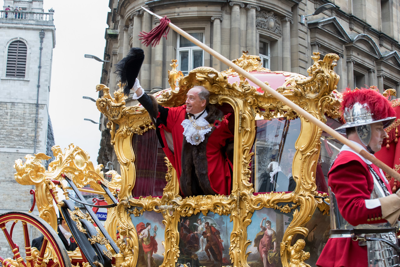 The Lord Mayor's Show through the City of London