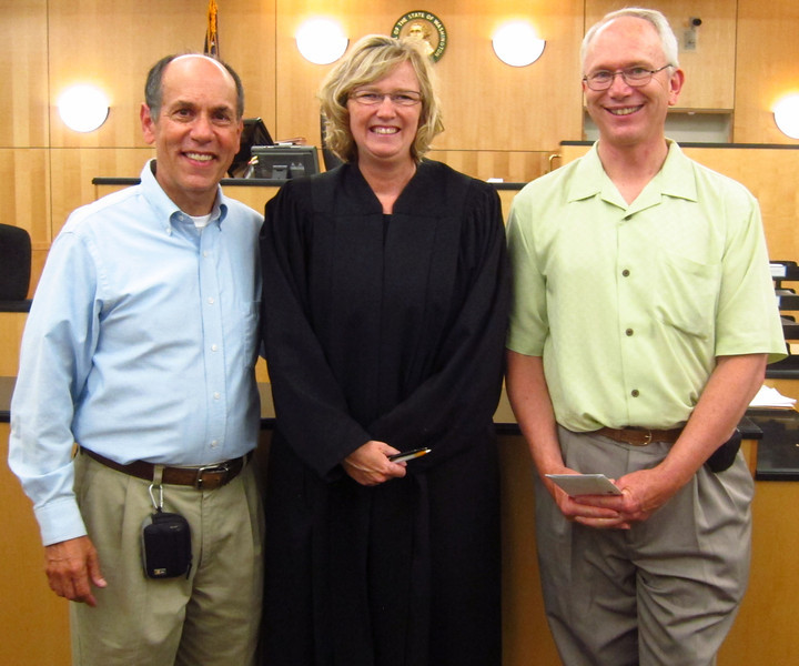 Judge Kelli Osler performed our wedding July 29th, 2013 at the Clark County Courthouse in Vancouver, Washington.  Our first wedding was in Portland in 2004, but was nullified, along with thousands of other same sex couples.  Until now, we've always considered our anniversary June 6, 1982 (31 years).
