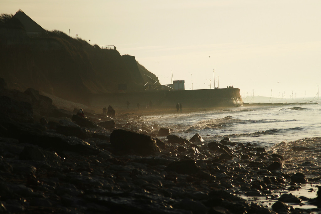 end of hunstanton's sea wall