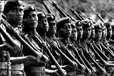 Fijian army during the coup, 1987