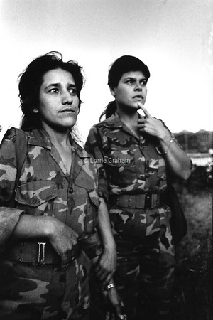 Young women in the Sandinista army, Nicaragua, 1982