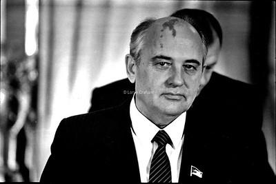INFLUENCE : Mikael Gorbachev, President of USSR,