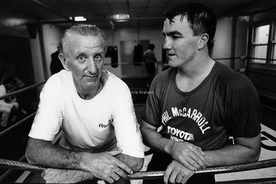 INFLUENCE : John Lewis, Trainer, and Jeff Harding, Boxer