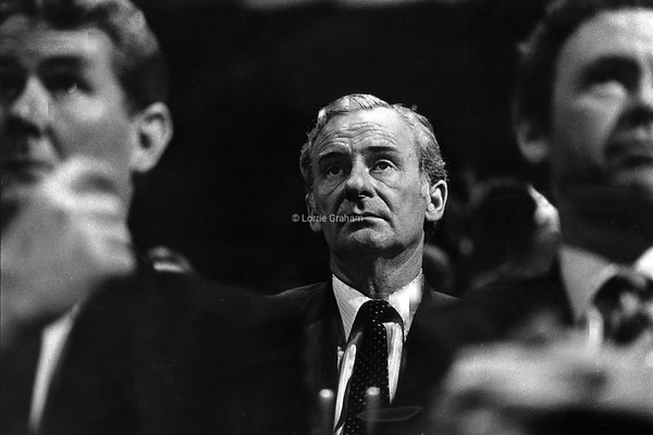 POLITICS : Bill Hayden at ALP Election Launch, 1983.