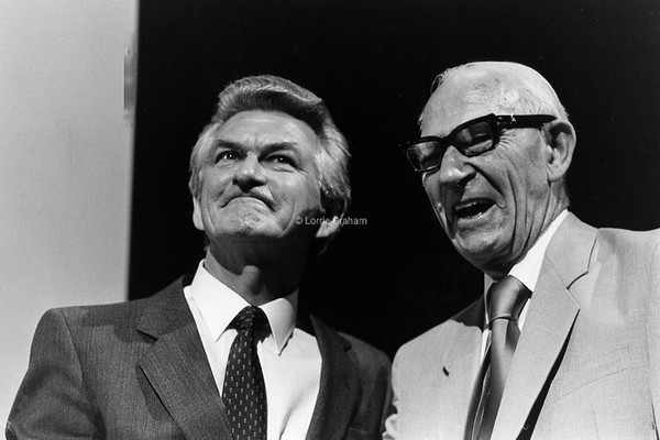 POLITICS : Bob Hawke and Father Clem