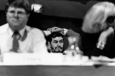 POLITICS : Barry Jones at ALP Conference, Hobart, 1986.