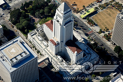 Aerial-Photograph-Los-Angeles-City-Hall-1