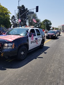 The LAWA Police Department participates at the Fourth of July Parade in Westchester