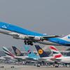 PH-BFU  departing runway 25R at LAX