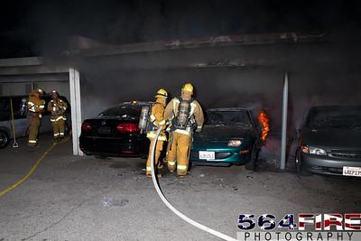120102 LAFD Arson Magnolia Blvd  & Cedros Ave  -110