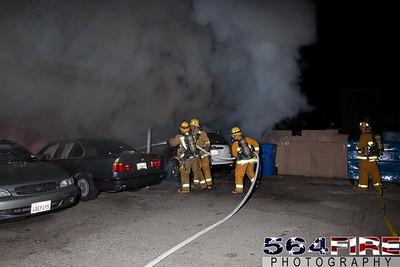 120102 LAFD Arson Magnolia Blvd  & Cedros Ave  -101
