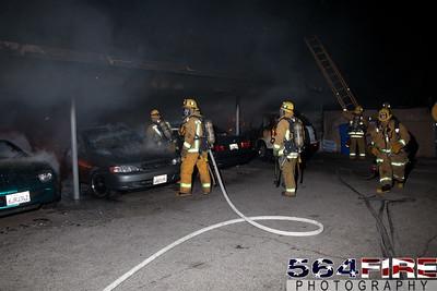 120102 LAFD Arson Magnolia Blvd  & Cedros Ave  -124